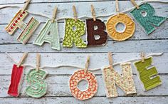Items similar to Quilted Letters Birthday Banner or Birthday Photo Prop on Etsy