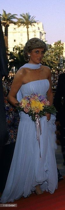 Princess Diana at the 40th Cannes Film Festival in May 15 1987