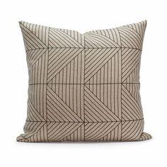 Love this geometric design on Belgium Linen!!!
