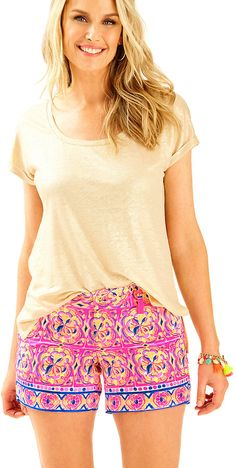 Lilly Pulitzer 5 Callahan Short    The Callahan Short is a 5 inch masterpiece print short that is a chic complement to a solid tank.