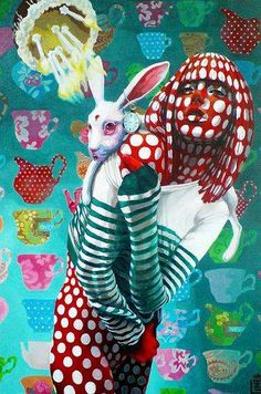 Surreal Animal-Infused Art - These Colorful Paintings by Sonja Tines are Like a Visual Acid Trip (GALLERY)