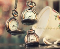Vintage pocket watches, the best way to tell the time. These are perfect to hang off of bookshelves, or as bookmarks.