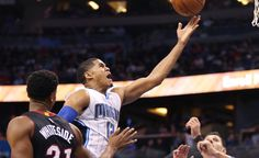 """Potential Trade Destinations For Tobias Harris = The Orlando Magic have a dilemma on their hands. They are filled with young, talented players with plenty of upside: Victor Oladipo, Elfrid Payton, Tobias Harris, Aaron Gordon, Nikola Vucevic, Mario Hezonja, and Evan """"Never Google"""" Fournier could all be considered core pieces....."""