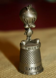 Tweety Six Flags pewter souvenir thimble by SCVHA, via Flickr