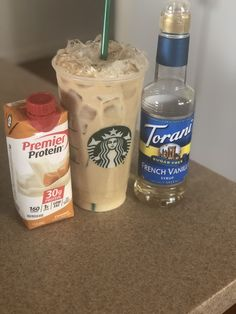 shots of espresso over ice in a venti cup. Add a splash or two of the syrup wi. - 2 shots of espresso over ice in a venti cup. Add a splash or two of the syrup wi… shots of espresso over ice . Protein Smoothies, Protein Snacks, Pancakes Protein, Protein Shake Recipes, Smoothie Recipes, Drink Recipes, Premier Protein Shakes, Best Protein Shakes, Healthy Shakes