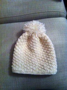 Cappello neonato, punto grana di riso.