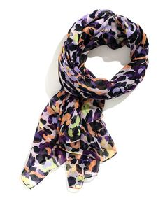Another great find on #zulily! Plum & Light Grape Abstract Scarf by TIMEOUT #zulilyfinds