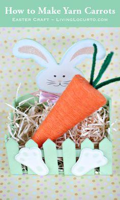 How to Make Yarn Carrots