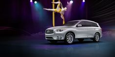 Cirque du Soleil and the Infiniti JX challenged gravity in a LIVE, online-only performance - a first for both Infiniti and Cirque du Soleil.