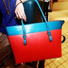 New Fashion Women's PU Leather Satchel Luggage Tote Bag Handbag