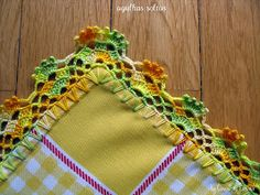 32 Ideas Crochet Lace Edging Simple For - Post - Marecipe Crochet Boarders, Crochet Lace Edging, Crochet Squares, Thread Crochet, Crochet Trim, Love Crochet, Lace Knitting, Crochet Doilies, Crochet Stitches