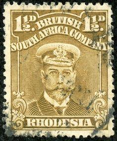 Rhodesia 1917 Scott 121g 1½d drab brown