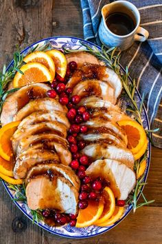 This Pork Loin Roast recipe is the perfect holiday main dish! This Orange Cranberry Pork Loin Roast is juicy delicious and super festive. Add this roasted pork recipe to your Thanksgiving and Christmas tables! Christmas Dinner Side Dishes, Easy Christmas Dinner, Holiday Dinner, Christmas Tables, Family Christmas, Christmas Ideas, Easter Dinner, Christmas Desserts, Christmas Eve