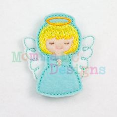 Angel Felt Feltie Embroidery Design by MommaMC on Etsy, $3.50