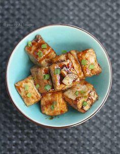 Tofu en salsa de ajo