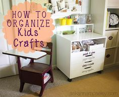 How to organize kids crafts - Ask Anna