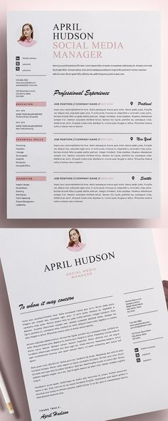 25 Best Resume Templates with Cover Letter - Resume Template Ideas of Resume Template - Best Resume Templates CV Resume Best Resume Template, Resume Design Template, Creative Resume Templates, Cv Template, Templates Free, Cv Fashion Designer, Fashion Resume, Fashion Cv, Tutorials