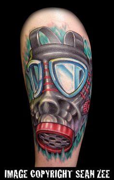 gas mask tattoo - Google'da Ara