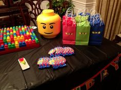 "Photo 4 of Lego Ninjago / Birthday birthday"" Lego Ninjago, Ninjago Party, Lego Birthday Party, 6th Birthday Parties, Boy Birthday, Birthday Ideas, Party Time, Favor Bags, Goodie Bags"