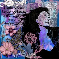 True Colors, Purple And Black, Digital Scrapbooking, Layout, Art, Art Background, Page Layout, Kunst, Performing Arts