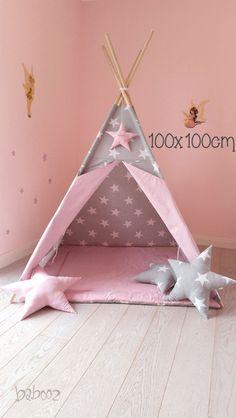 Kinderzimmerdekoration - Tipi mit Namen (ohne Decke) - ein Designerstück von babooz bei DaWanda