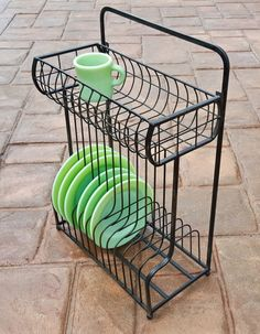 Metal Dish Rack Wall Mount or Tabletop - Marmalade Mercantile
