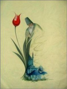 All doubt, despair and fear become insignificant once the intention of life becomes love. Islamic Calligraphy, Calligraphy Art, Ebru Art, Jalaluddin Rumi, Whirling Dervish, Turkish Art, Marble Art, Foto Art, Spiritual Music