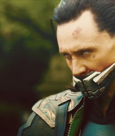 Loki, I don't know why they put this thing on him, but I must say my sick twisted mind likes it.