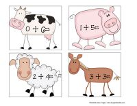 A great way to integrate math into farm week!  These cards could be used to help children do simple addition.