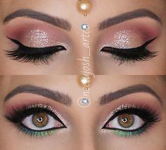Colorful eye makeup, perfect for Indian bridal looks
