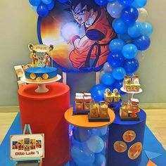 Goku Birthday, One Year Birthday, Dragon Birthday, Ball Birthday, Birthday Parties, Tent Decorations, Birthday Decorations, Dragonball Z Cake, Dragon Ball Gt