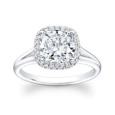Cushion halo diamond engagement ring by Eric Stein #engagement #ring