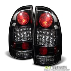Black 05 15 Tacoma Pickup Philips Led Perform Tail Lights Lamps Left Right 2006 Toyota