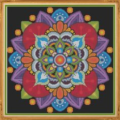 Mandala 1 Visualize Counted Cross Stitch by HornswoggleStore