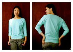 Free Sewing Pattern: Dolman Sleeve Top