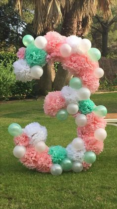 Colors for 3rd bday ♡ Baby Party, Ideas Para Fiestas, Balloon Words, Balloon Arch, Pinata Ideas, Balloon Decorations, Birthday Decorations, Papel Tissue, Tissue Paper