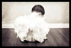 Boy or Girl Toddler Child angel wings with satin straps for portrait or photography photo props