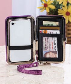 Front Window Cell Phone Clutch Wallets
