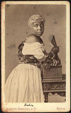 Portrait of an Afro-Brazilian woman, Bahia, Brazil, by Alberto Herschel, ca. 1869.