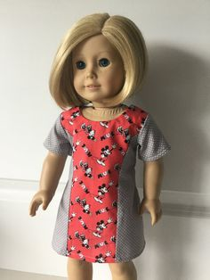 Oh Sew Kat! – Fashion Trends for Dolls & their Friends; PDF Sewing Patterns for 14-18 inch Doll Clothes Easy Sewing Patterns, 18 Inch Doll, Dress For You, Girl Dolls, American Girl, Doll Clothes, High Neck Dress, Doll Dresses, Sunshine