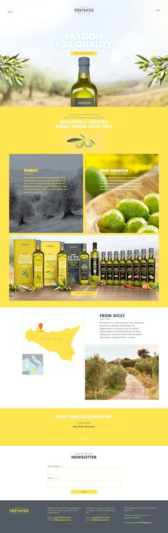 Costanza Foods (More web design inspiration at topdesigninspiration.com) #design #web #webdesign #sitedesign #responsive #ux #ui