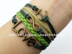 Jewerly bracelet love&anchor bracelet infinity wish by kekecase, $5.29
