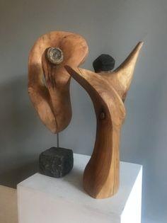 von Stefanie in der Freizeitschule vollendet Wooden Decor, Wooden Crafts, Sculpture Romaine, Art Sculpture, Statues, Woodworking Wood, Oeuvre D'art, Wood Turning, Ceramic Art