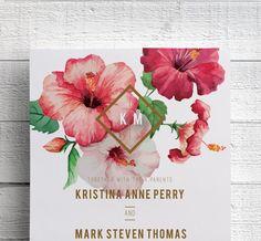 Hawaii Wedding Invitations Printable by EdenWeddingStudio on Etsy