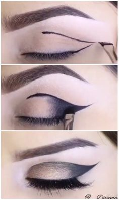 Beautiful winged makeup