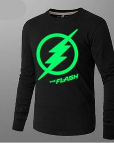 The Flash long sleeve t shirts for men luminous t shirt