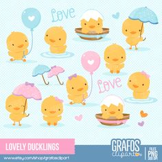 OFF SALE Vintage baby shower clipart rubber duck clipart Baby Shower Clipart, Clipart Baby, Baby Ducks, Kawaii Chibi, Cute Illustration, Easy Drawings, New Baby Products, Cute Animals, Clip Art