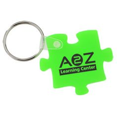 Complete your advertising puzzle with this custom shaped key tag!