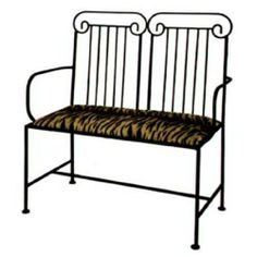Grace Roman Wrought Iron Loveseat, 40in, White Levante Fabric, Aged Iron Finish by Grace Collection. $505.34. Grace Collection wrought iron loveseats are available in a variety of designer finishes and fabric patterns. Mix and match your favorite colors and patterns to create your ideal bench.