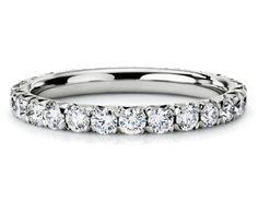 Pavé Diamond Eternity Ring in Platinum #BlueNile